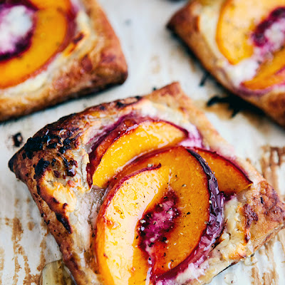 Peach Tarts with Goat Cheese & Honey