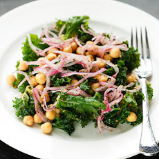 Marinated Kale and Chickpea Salad With Sumac Onions