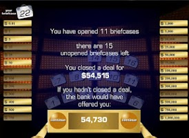 Screenshot of Deal or No Deal