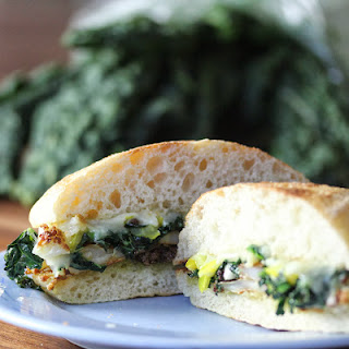 Fried Cauliflower and Greens Sandwich