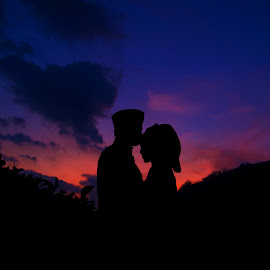 silhouette by Tri Kurniawan - People Couples ( love, silhouette, art, couple,  )