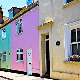 Cottages by Vince Apps - Buildings & Architecture Homes ( colour, color, seaford, cottages, town, lane )