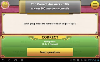 Screenshot of ExQuizit: World's Biggest Quiz