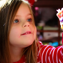 New Toy by Carol Plummer - Babies & Children Children Candids ( child, girl, candid )