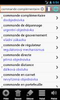 Screenshot of Francouzský slovník Langsoft