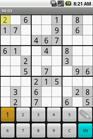 sudoku-plus for android screenshot