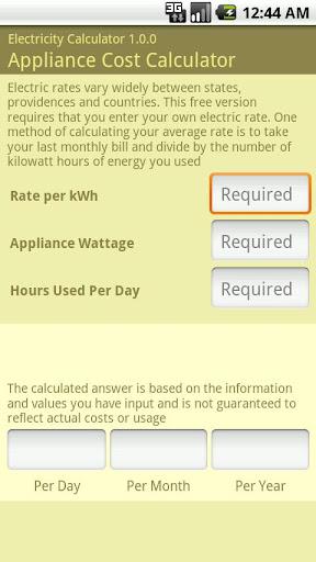 Electricity Calculator