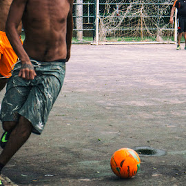 O Jogo Bonito  by Samy St Clair - Sports & Fitness Soccer/Association football ( football, action, sports, candid, street scene, game, street photography, soccer )