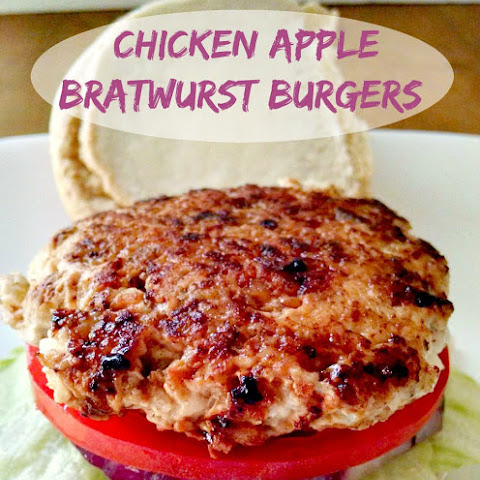 Chicken Apple Bratwurst Burgers