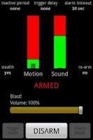 Screenshot of Motion & Sound Alarm