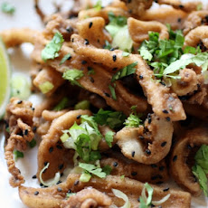 Five-Spice Fried Calamari with Sesame and Lime