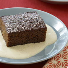 Gingerbread with Spiced Creme Anglaise
