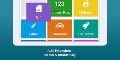 Screenshot of Fleksy Keyboard