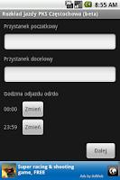Screenshot of Rozkład jazdy PKS Częstochowa