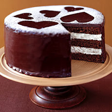 Semisweet Chocolate Layer Cake with Vanilla Cream Filling