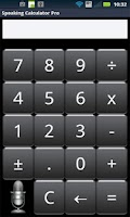 Screenshot of Speak n Talk Calculator Pro