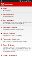 Screenshot of Social Alert