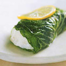 Romaine-Wrapped Halibut