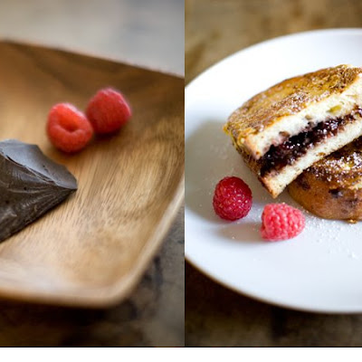 Chocolate Raspberry Stuffed French Toast