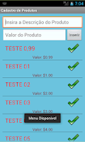 Screenshot of Talão de Pedidos v.Teste