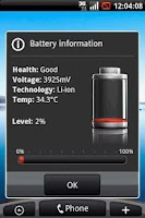Screenshot of Fake Battery