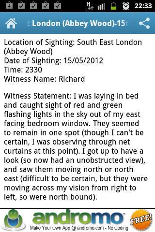 London UFO Sightings