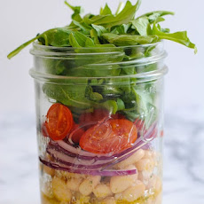 Marinated White Bean Salad Jars