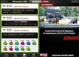 Screenshot of Equidia Live+