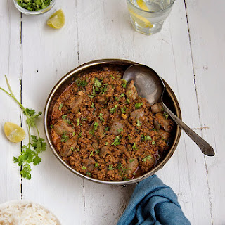 Keema Kaleji / Mutton Mince and Liver in a Spicy Curry