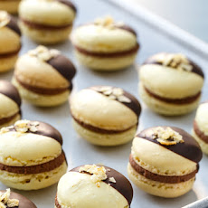 Chocolate Covered Potato Chip Macarons with Whipped Milk Chocolate Ganache