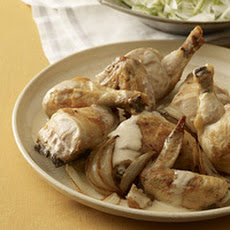 Brandy Chicken with Fennel Salad