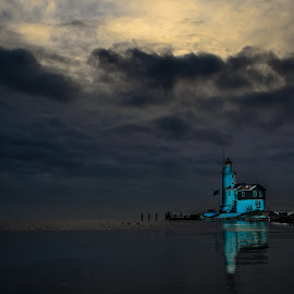 The Blue Hour ... !! by Kshitij  Saxena - Landscapes Sunsets & Sunrises ( clouds, water, unreal, old, cold, beautiful, sunrise, sun, abandoned )