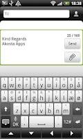 Screenshot of SMS Signature