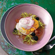 Mango and Blackberry Salad with Mozzarella and Frisee