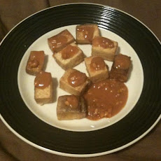 Pan-Fried Tofu with Spicy Peanut Sauce