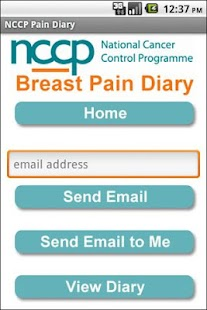 NCCP Breast Pain Diary - screenshot