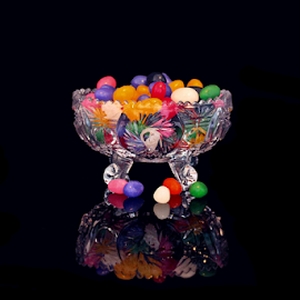 Jelly Beans by Tony Huffaker - Food & Drink Candy & Dessert ( bowl, bright, candy, colors, crystal, jelly beans )