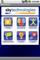 Screenshot of SkyMobile CRM