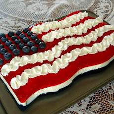 Red, White, and  Blue Jello Flag