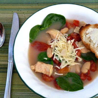 Tuscan Chicken Soup Adapted from My Recipes.com