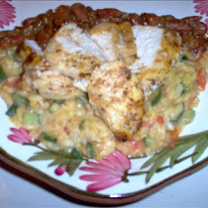 Tuscany Chicken and Orzo With Bean Dressing
