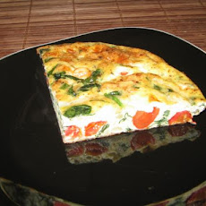 Blue Cheese Spinach Frittata