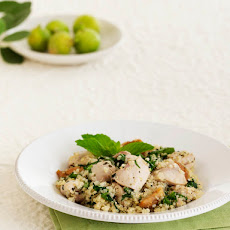 Chicken and Quinoa with Figs, Spinach and Mint