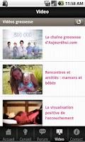 Screenshot of Conseils pour votre grossesse