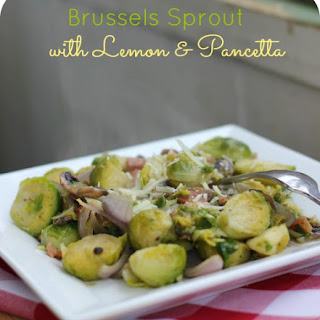 Brussels Sprout with Lemon & Pancetta
