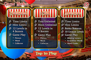 Screenshot of Hidden Objects Carnival Circus