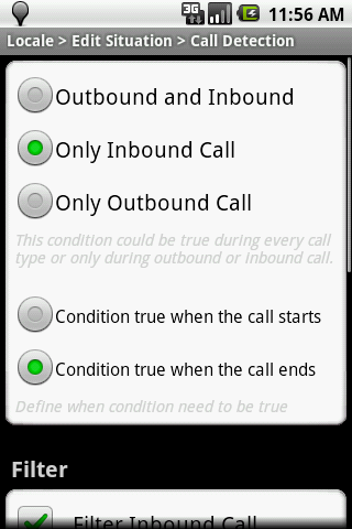 Locale Call Detection Plug-in