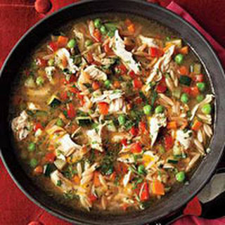 Toasted Orzo Chicken Soup