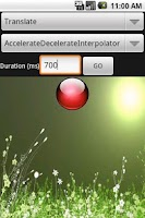 Screenshot of Android Animations