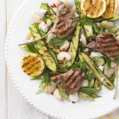 Barbecue Lamb & Courgette Salad